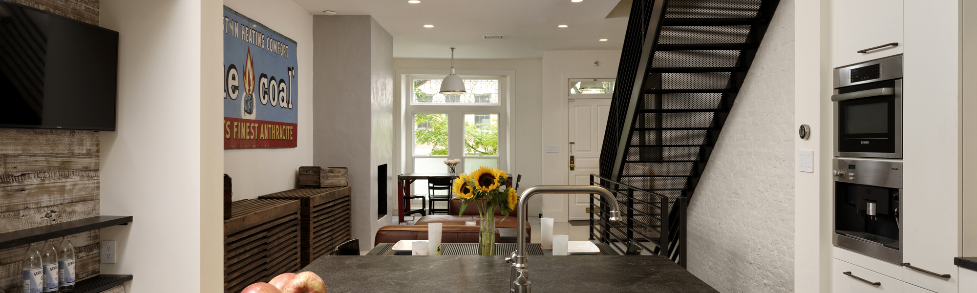 Industrial Chic Row Home Renovation In Dupont Circle, DC | BOWA