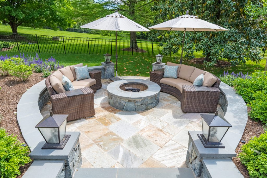 Fire Pit and Sitting Area Great Falls Virginia