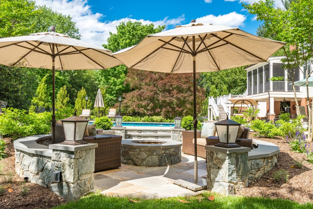 Fire Pit and Sitting Area Renovation Great Falls, VA
