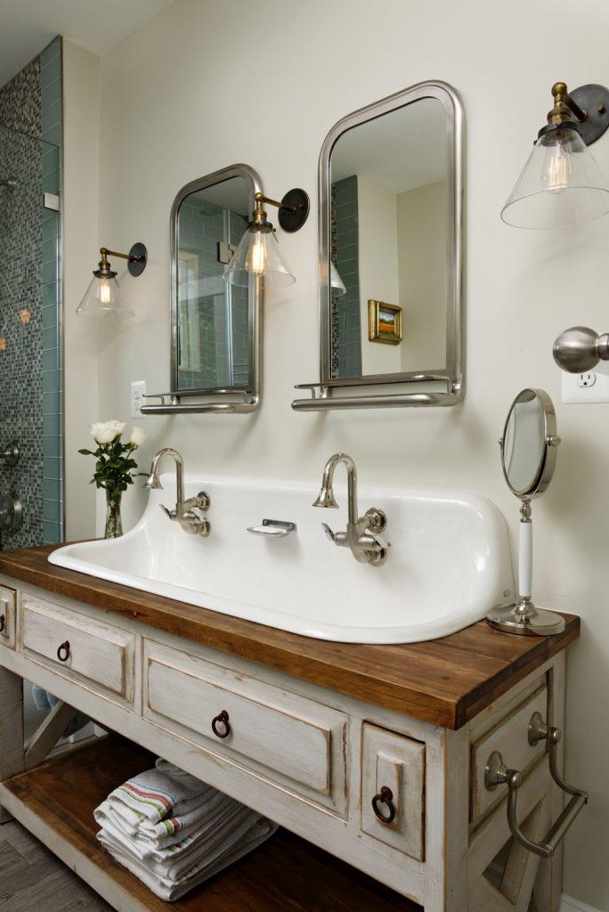 McLean VA 1910 Whole-Home Design Build  master bath sink