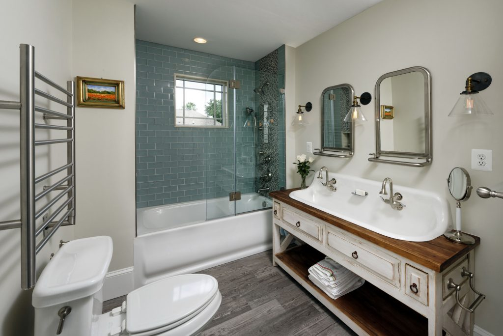 McLean VA 1910 Whole-Home Design Build Renovation lovely bathroom
