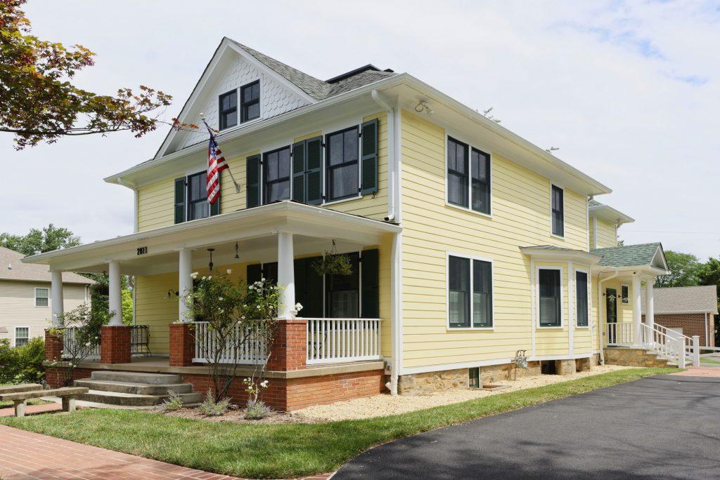 McLean VA 1910 Whole-Home Design Build Renovation Front Elevation