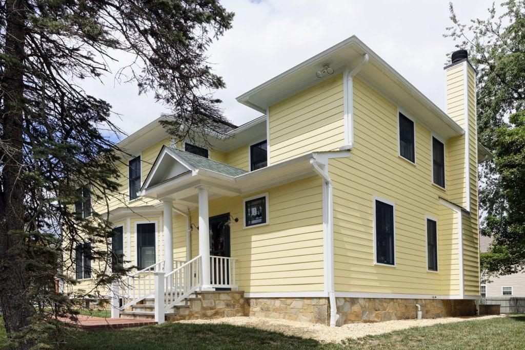 McLean VA 1910 Whole-Home Design Build Renovation Rear Elevation