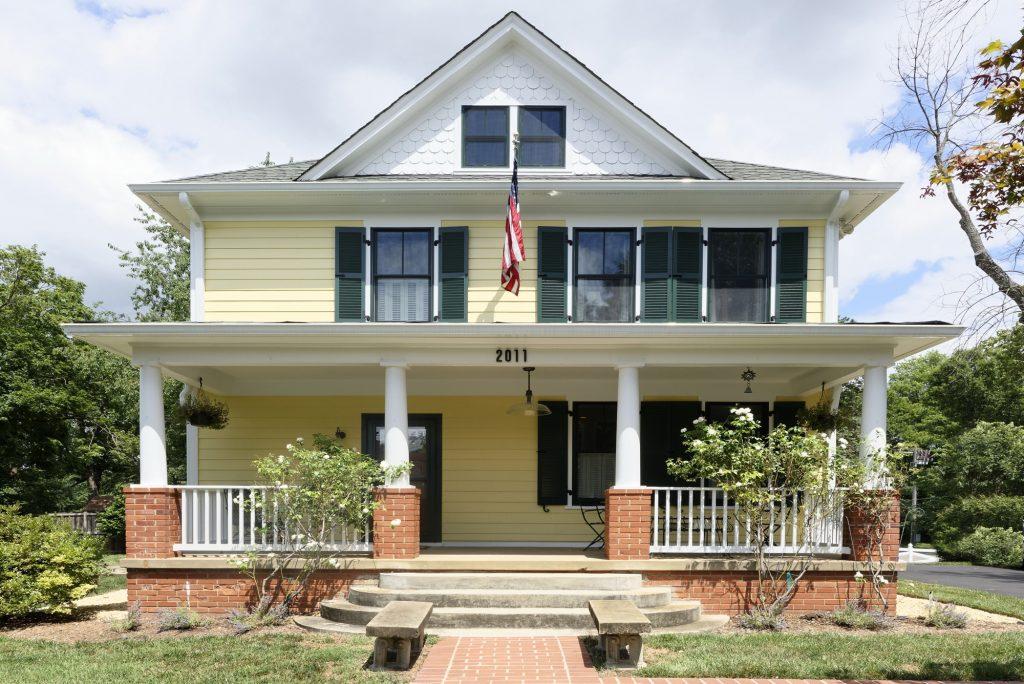 McLean VA 1910 Whole-Home Design Build Renovation Front Porch Elevation