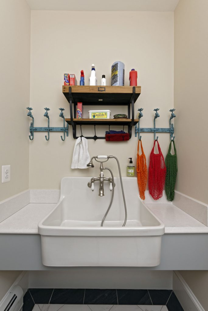 McLean VA 1910 Whole-Home Design Build Renovation Laundry sink
