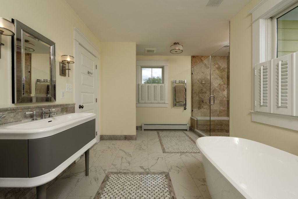 McLean VA 1910 Whole-Home Design Build Renovation Large Master Bath