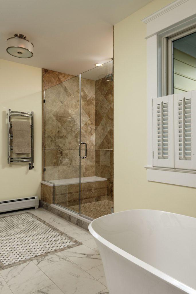 McLean VA 1910 Whole-Home Design Build Renovation Master Bath Shower