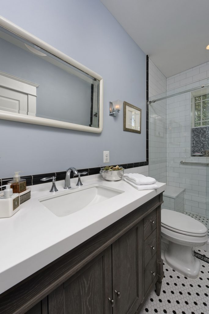 McLean VA 1910 Whole-Home Design Build Renovation hall bath