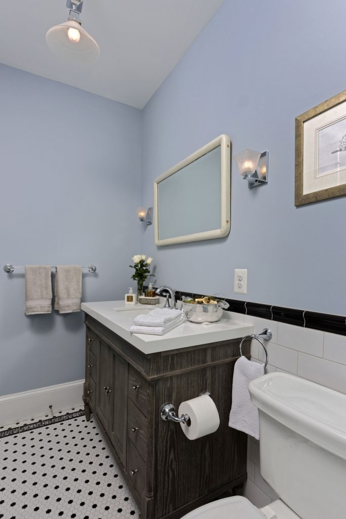 McLean VA 1910 Whole-Home Design Build Renovation hall bathroom sink