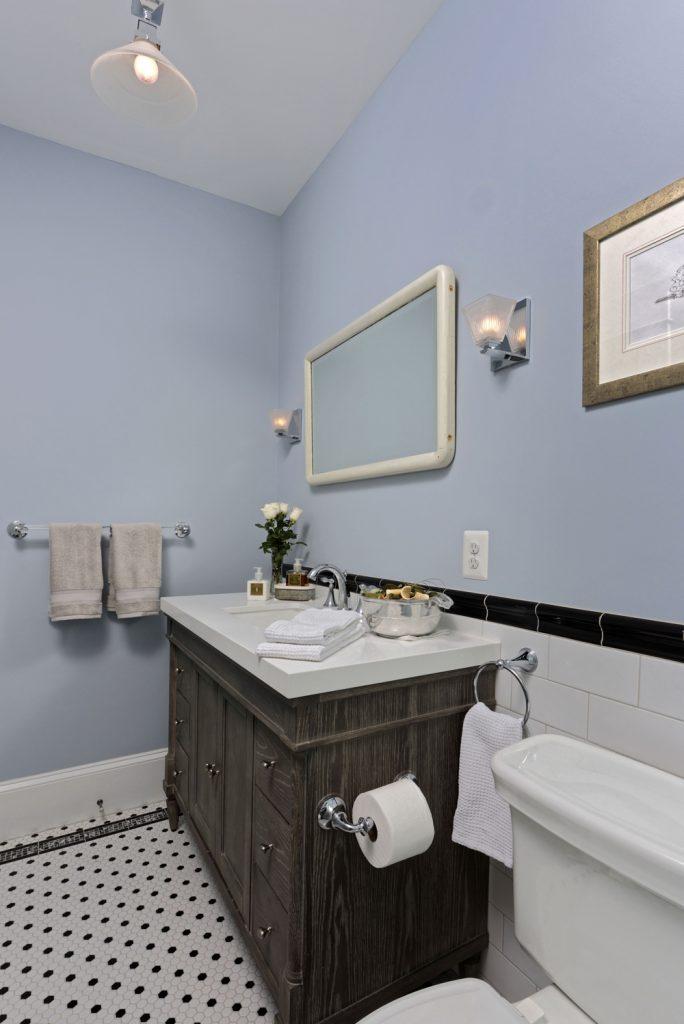 McLean VA 1910 Whole-Home Design Build Renovation hall bathroom sink