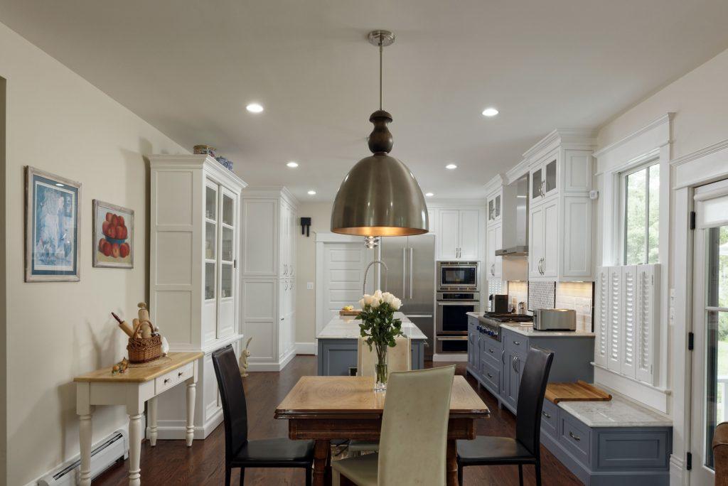 McLean VA 1910 Whole-Home Design Build Renovation kitchen eating area