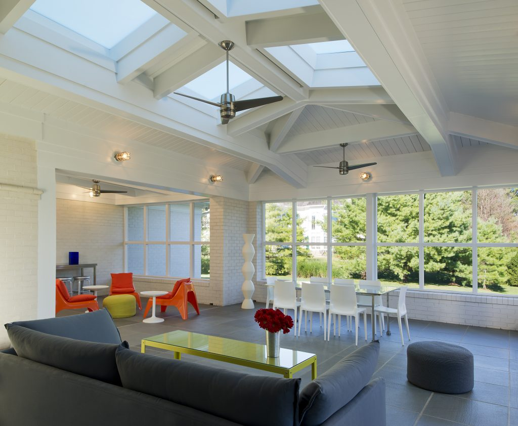 Contemporary Screen Porch Addition with Skylights in Potomac MD