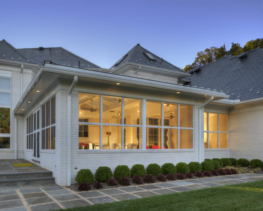 Contemporary Screen Porch Addition Exterior in Potomac MD