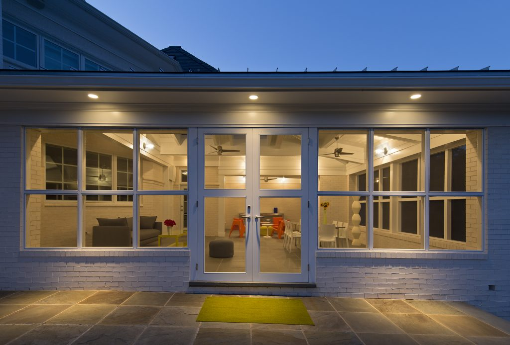 Contemporary Screen Porch Addition in Potomac MD