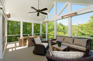 BOWA Outdoor Renovation - Screened Porch with Heating