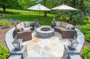 BOWA Outdoor Renovation - Firepit + Sitting Area