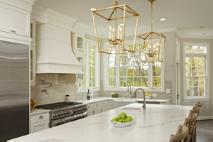Fairfax Station VA Kitchen Renovation with Quartz
