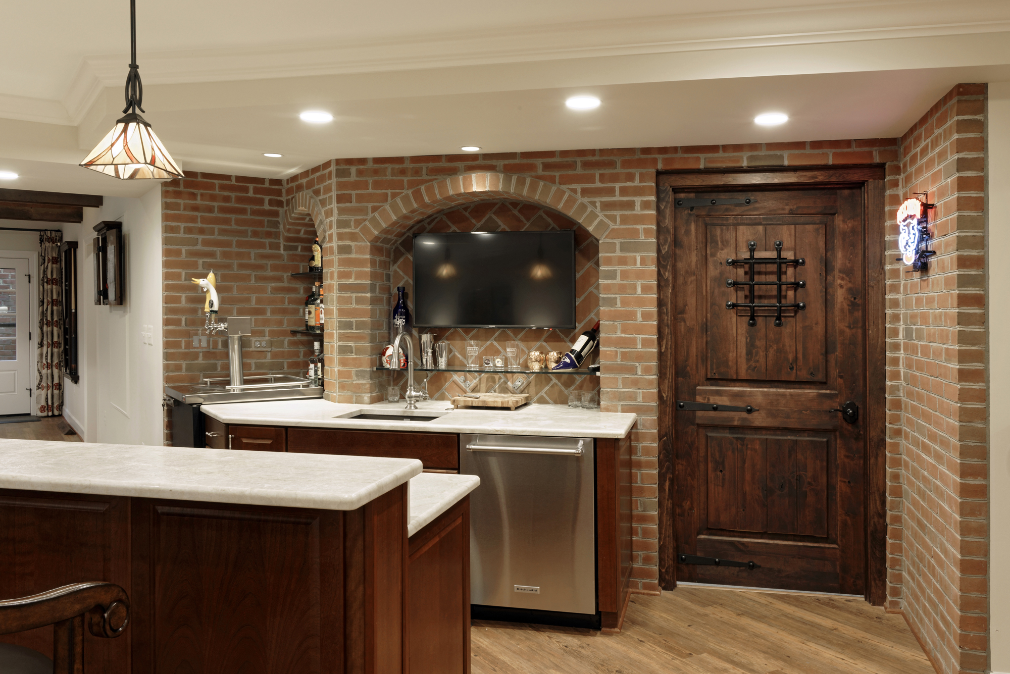 Basement Remodel In Mclean Perfect For Entertaining Bowa Wiring Strategically Placed Audio Visual To Ensure A Clean Look
