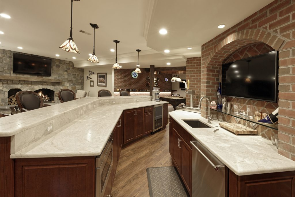 McLean Virginia Basement Renovation - Basement Bar - Man Cave Renovation