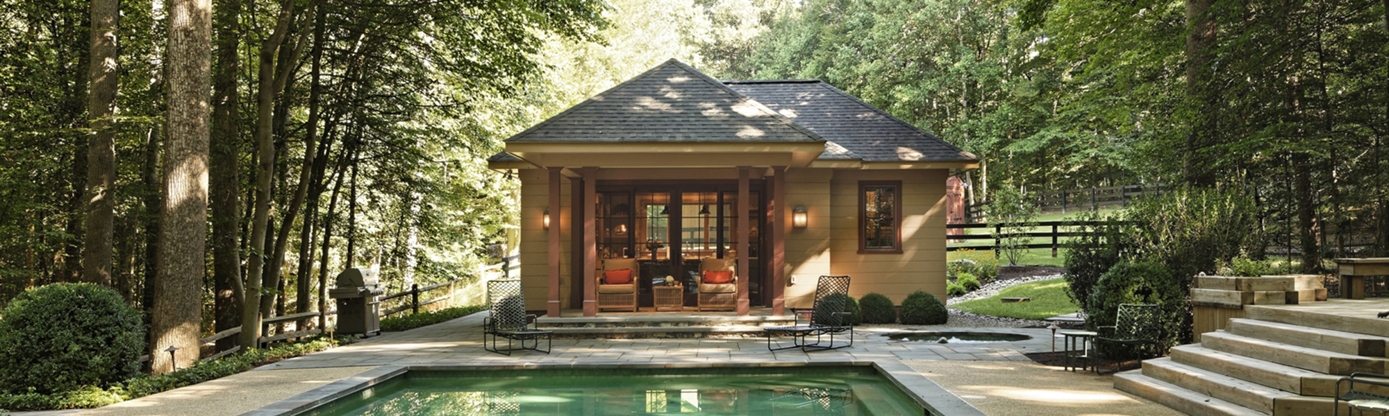 Great Falls Pool Design - Pool House Addition - Backyard Design