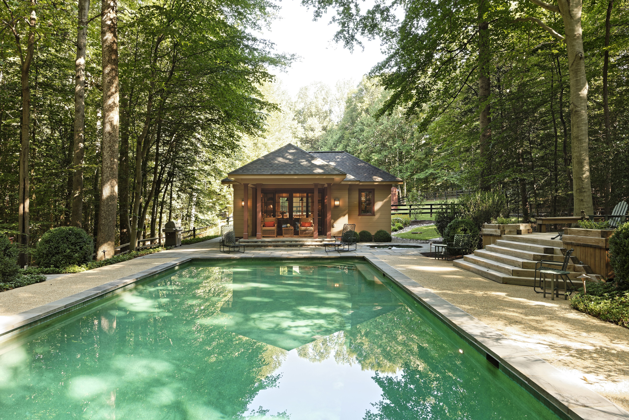 Pools pool houses photo gallery bowa design build for Pool and pool house