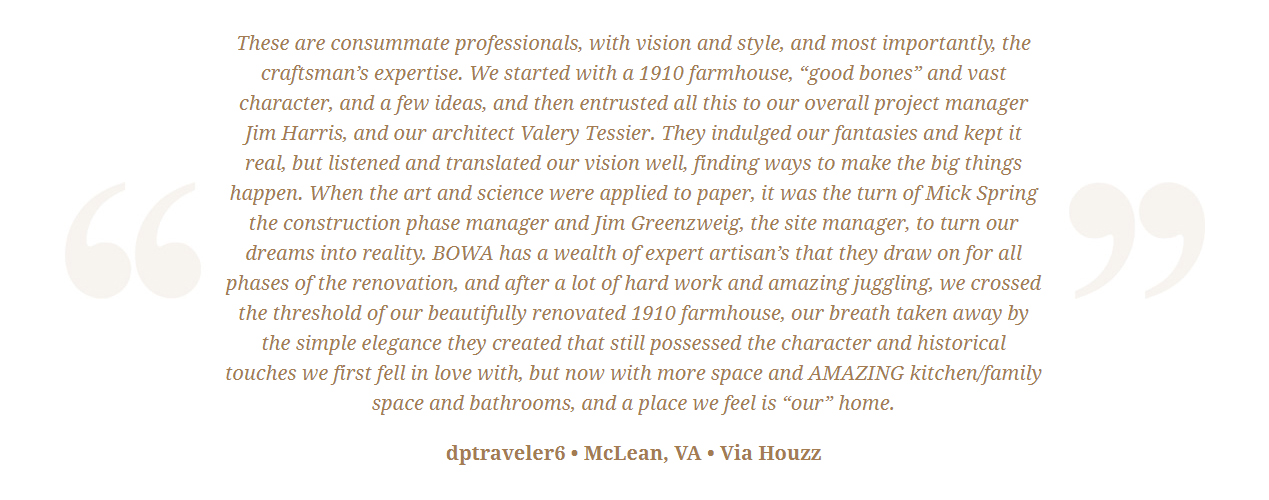 BOWA Client Review - Jim Harris mclean w