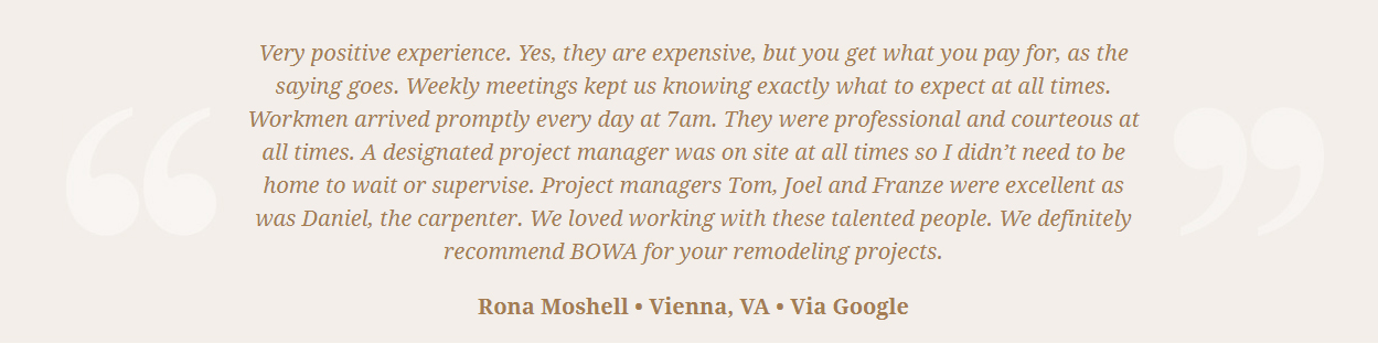 BOWA Client Review - Steve Scholl - Moshell t