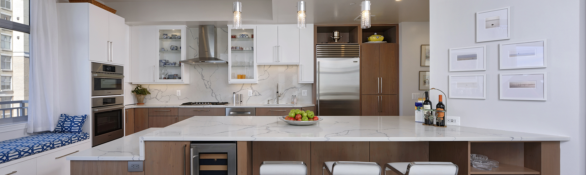 Sleek Kitchen Design - Condominium Remodel DMV