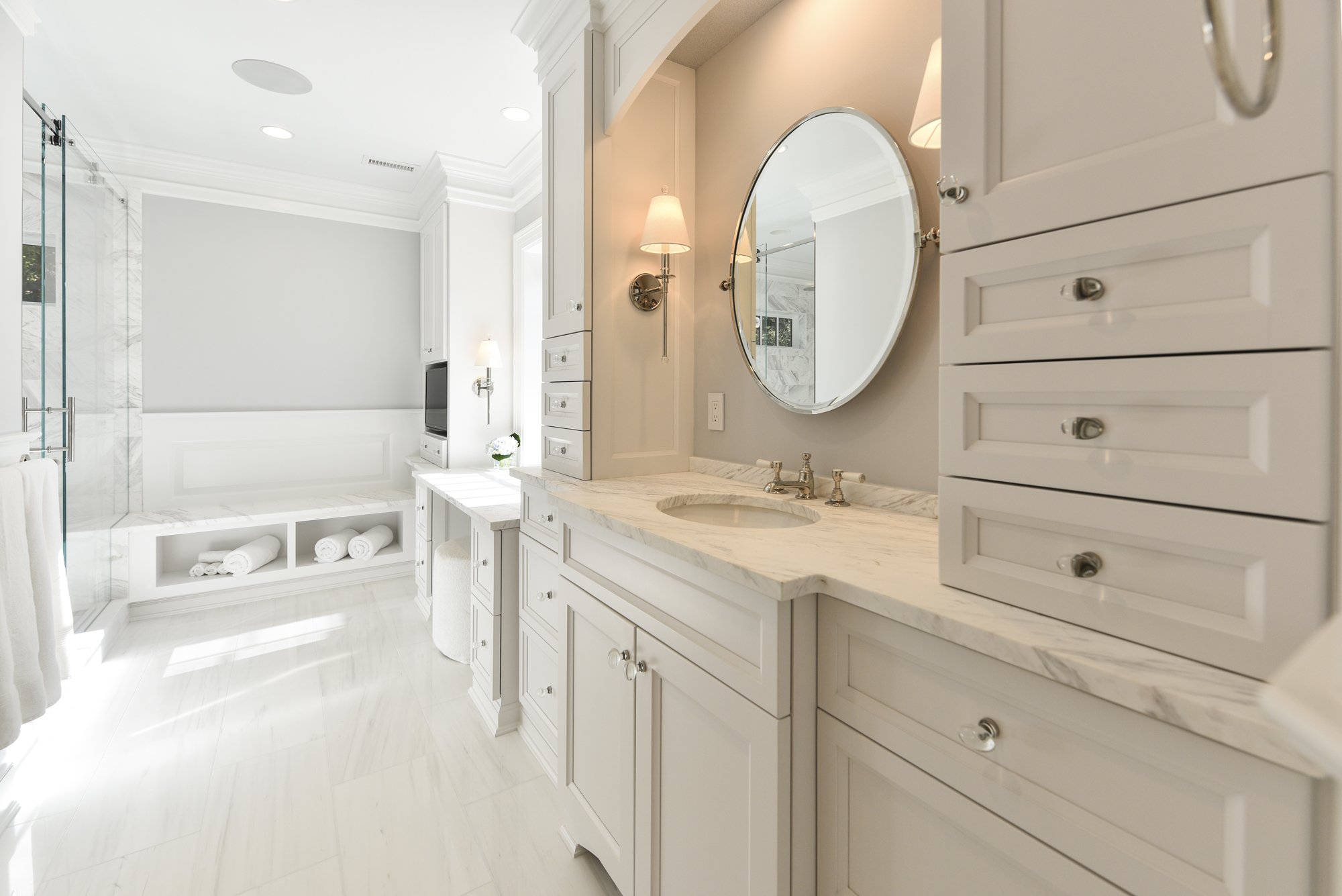 Master Bathroom Filled with Natural Light in McLean, VA