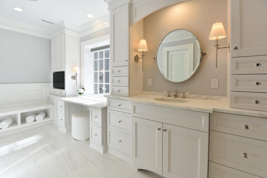 Modern Clean Bathroom Design - Master Bathroom Remodel McLean VA