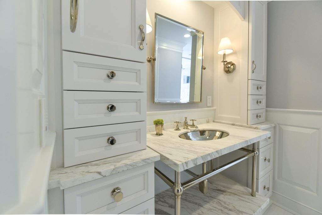 Modern Marble Bathroom - High End Master Bathroom Renovation