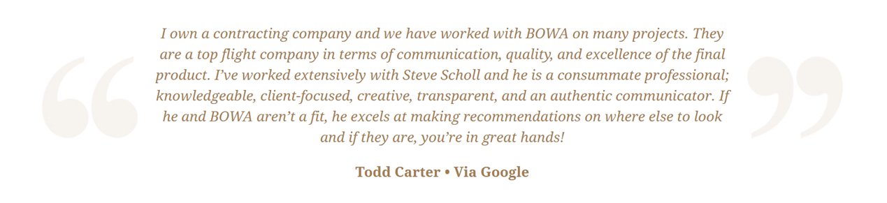Steve Scholl - Todd Carter Review Google