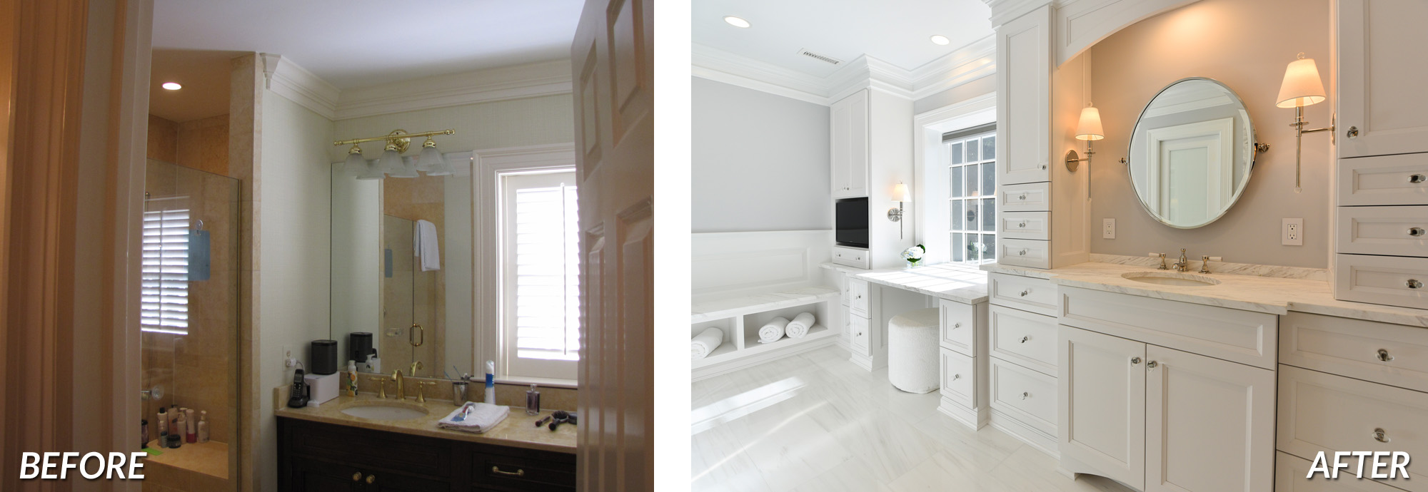 BOWA Design Design Build - McLean Master Bath Renovation Before & After