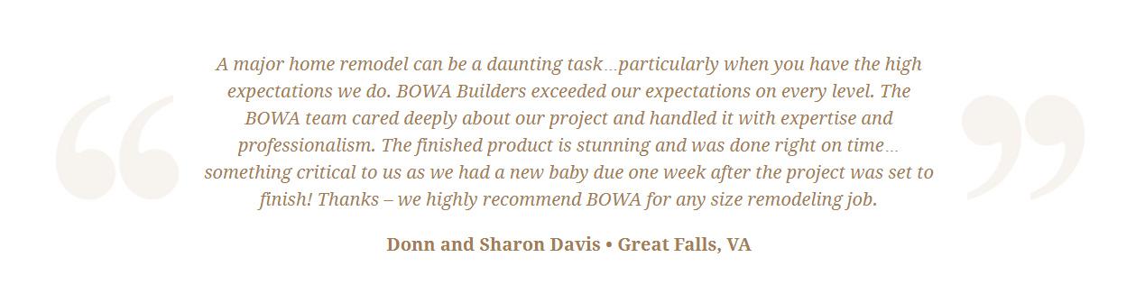 Google Review Remodeling Design Build Renovation - Donn Davis