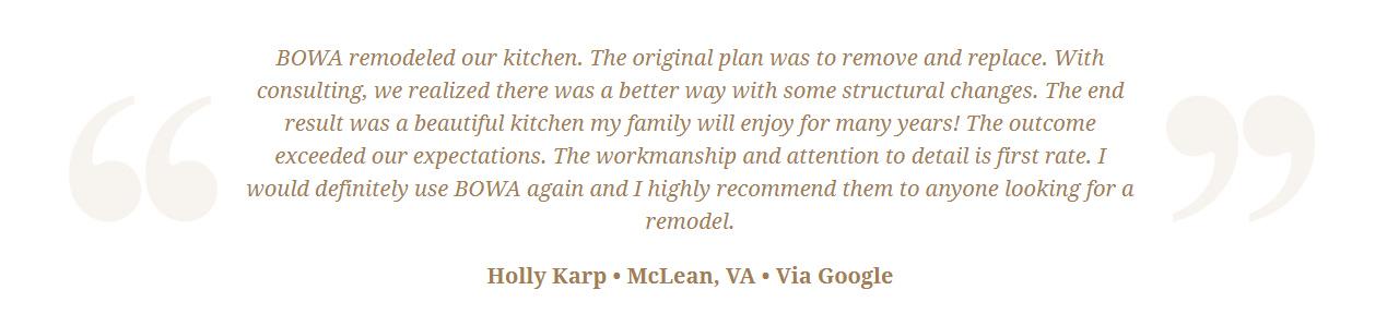 Google Review Remodeling Design Build Renovation - Holly Karp