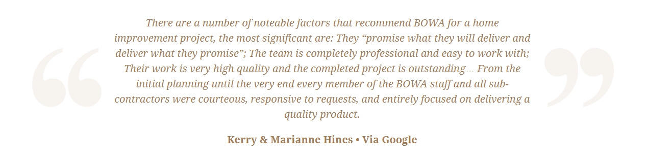Google Review Remodeling Design Build Renovation - Kerry Hines