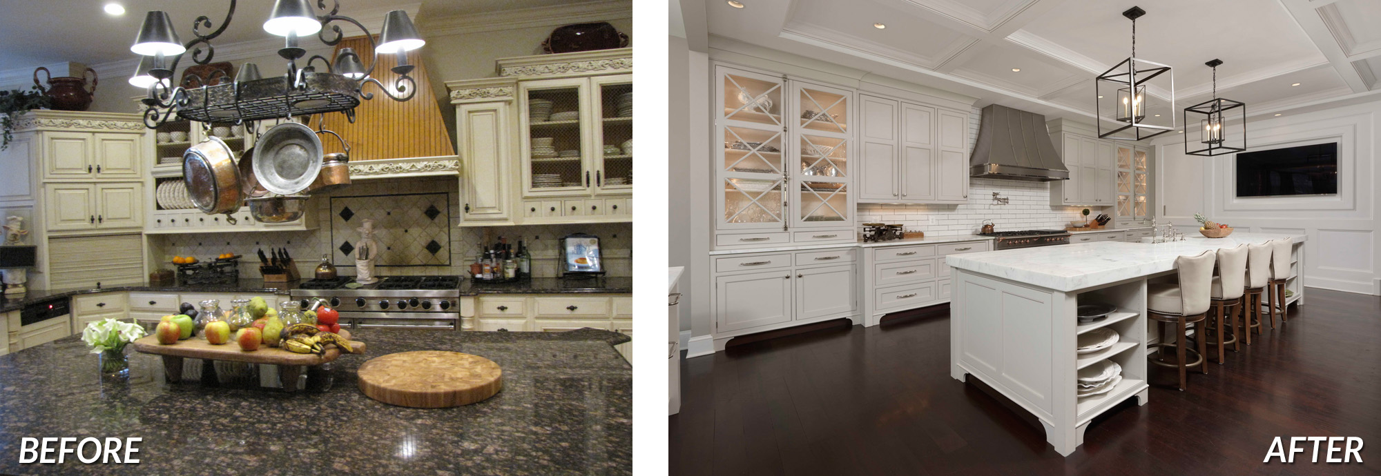 BOWA Design Design Build - Great Falls Virginia Kitchen Renovation Before & After