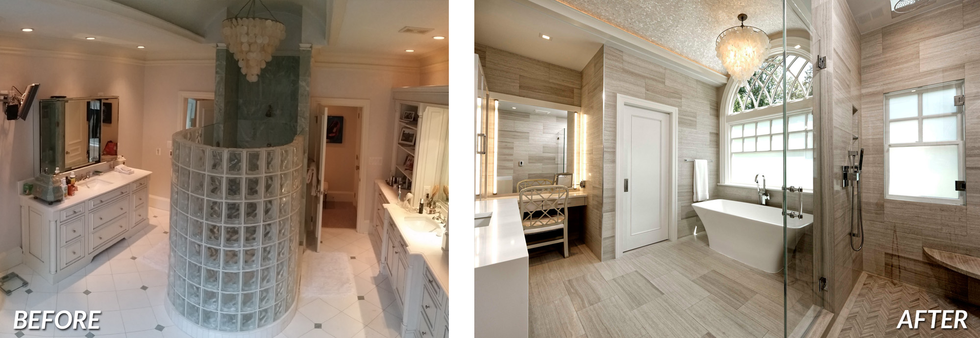 BOWA Design Design Build - McLean Bathroom Renovation Before & After