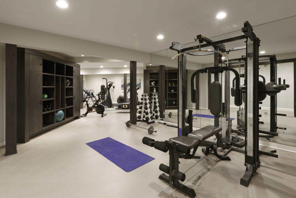 Luxury Basement Gym Addition