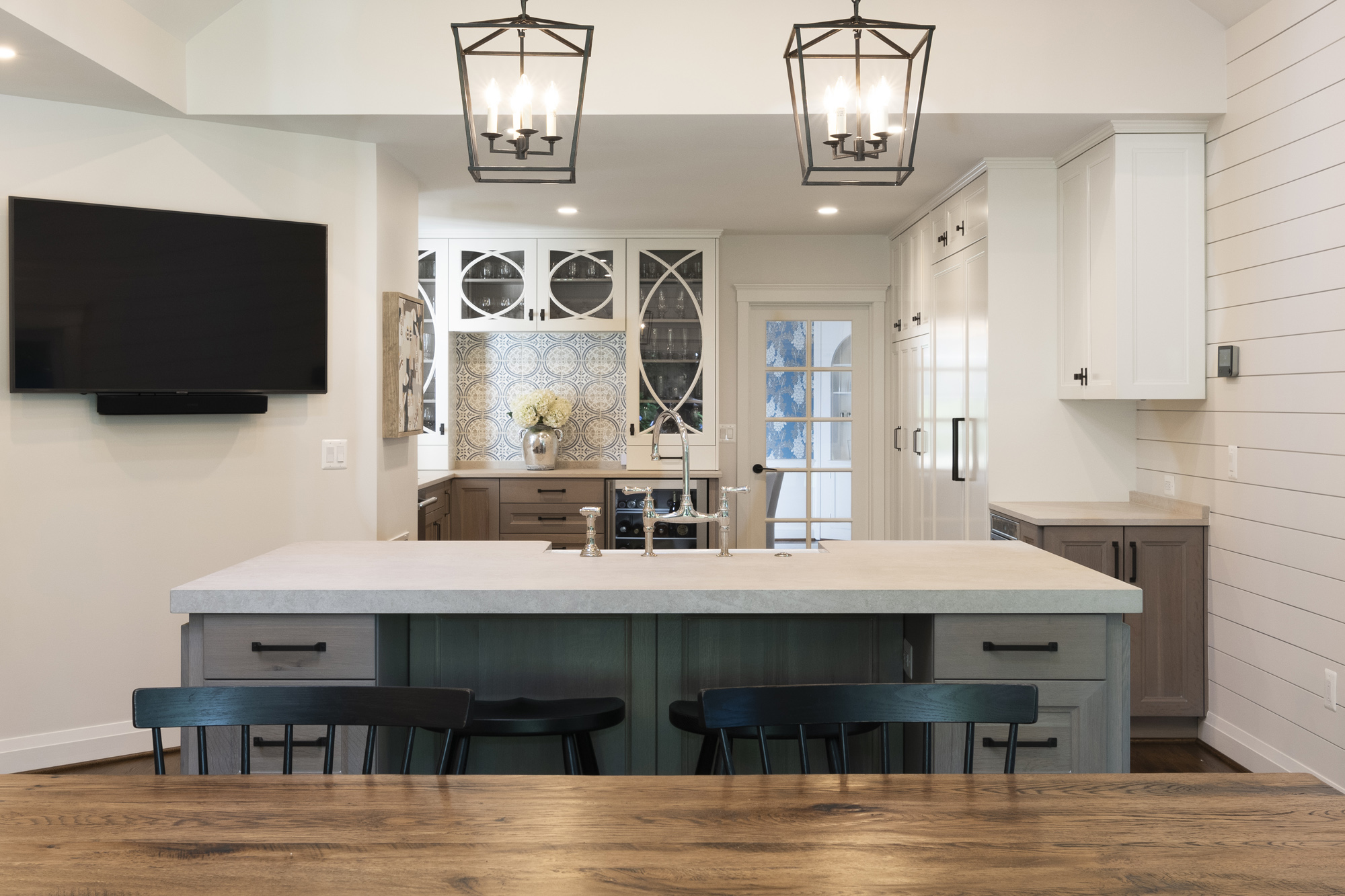 Before And After Renovation Of Transitional Kitchen In Washington Dc