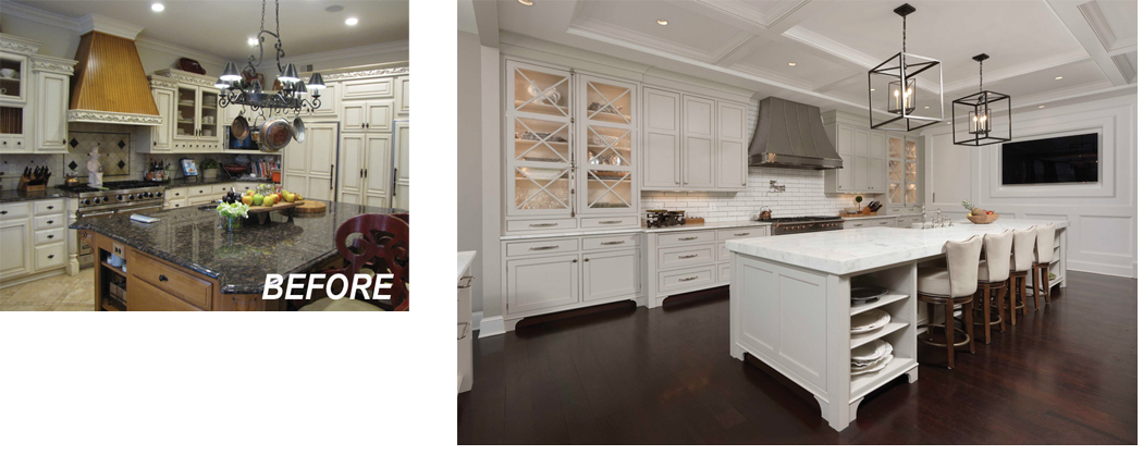 BOWA Design Build Remodeling Before and After - Kitchen Renovation in Great Falls