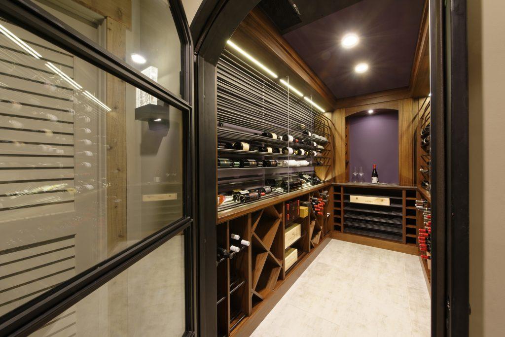 McLean Basement Renovation - Rustic Bar Design - Wine Cellar