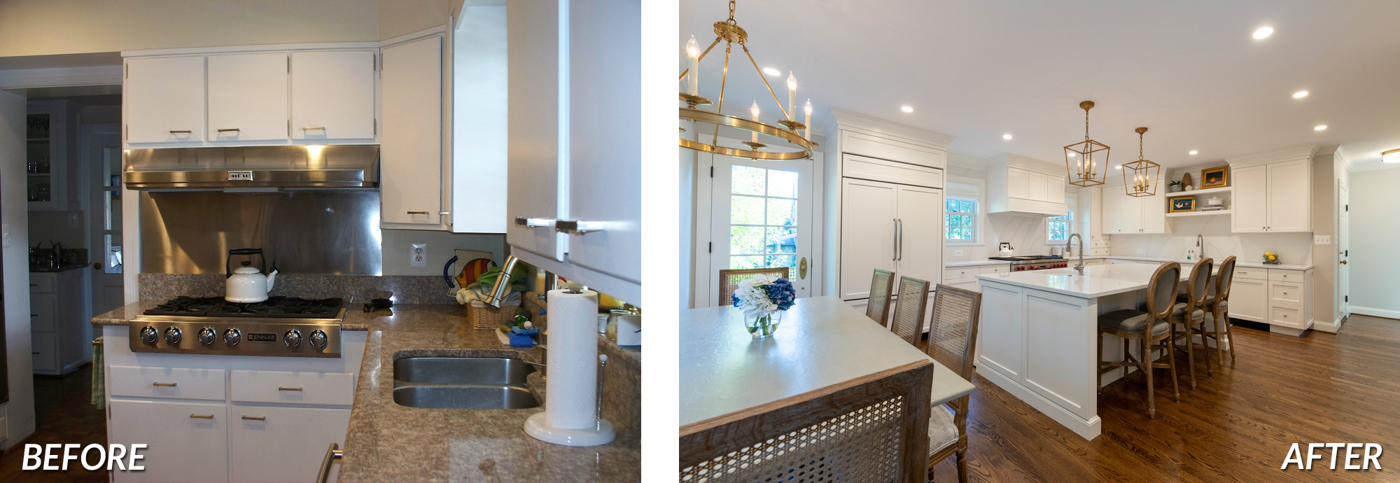 BOWA Design Design Build - Arlington Kitchen Renovation Before & After