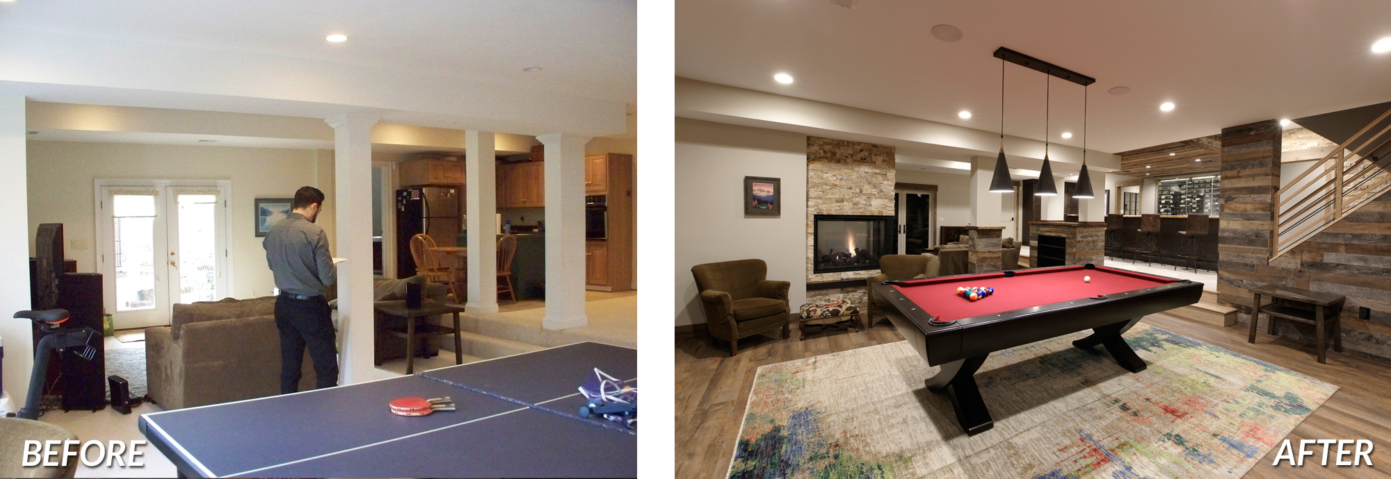 BOWA Design Design Build - McLean Basement Renovation Before & After 2000px