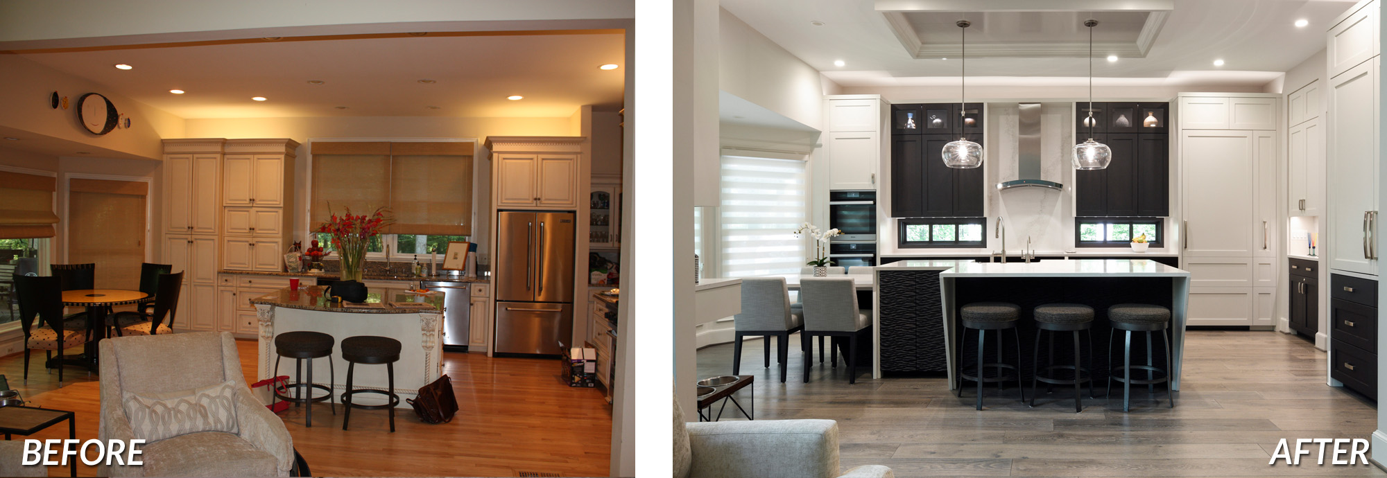 BOWA Design Design Build - McLean Contemporary Main Level Renovation Before & After
