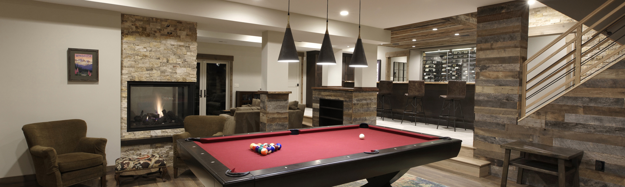Rustic Basement Renovation McLean