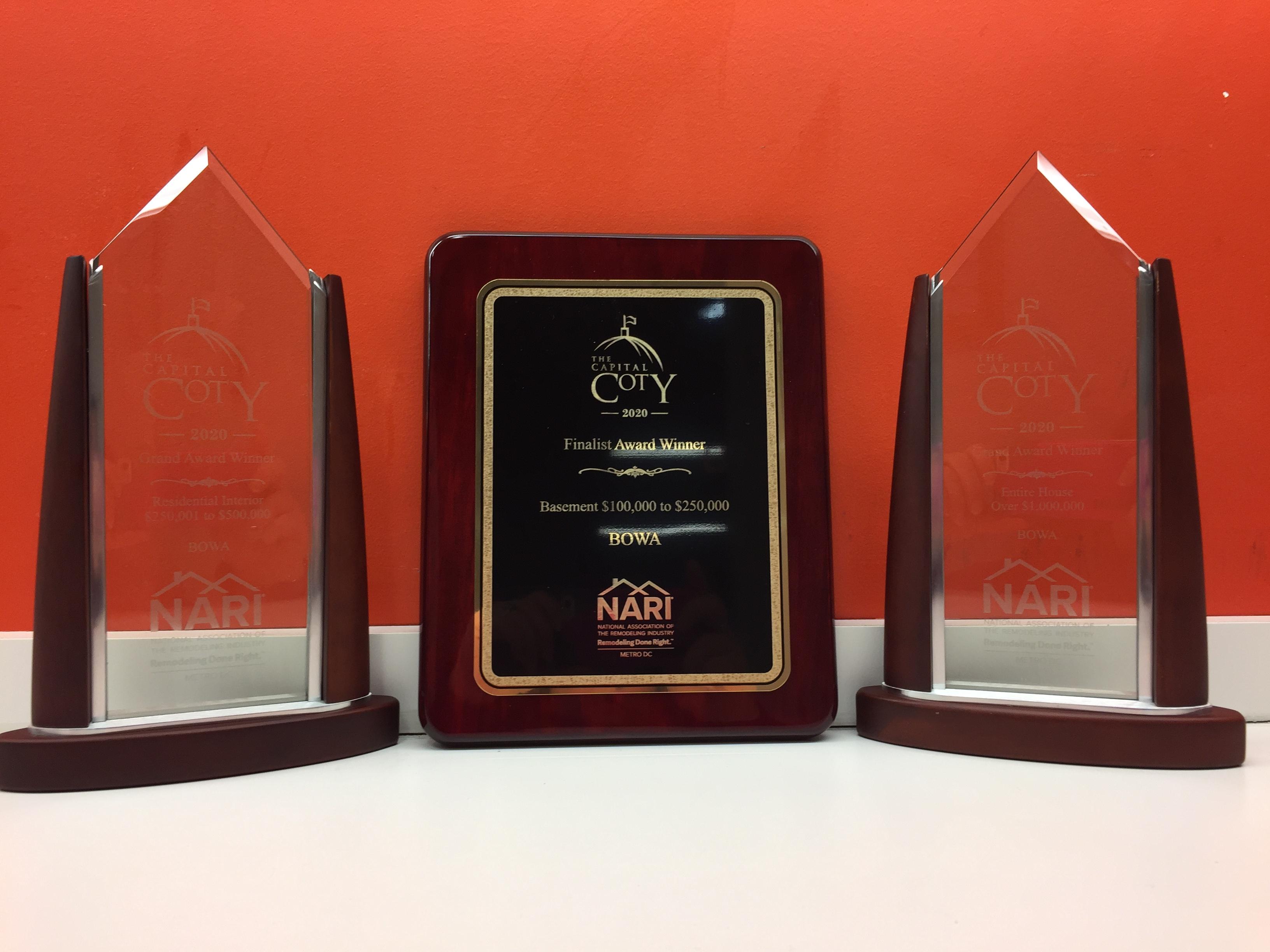 BOWA Wins Two CotY Awards