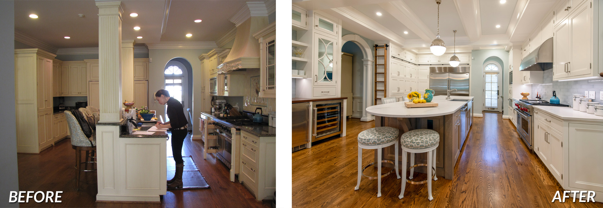 BOWA Design Design Build - Chevy Chase Kitchen Renovation Before & After