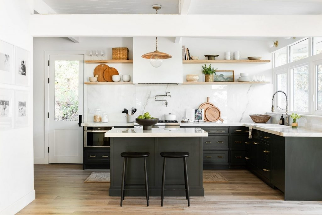 5 Design Trends for 2021 - Green Kitchen Cabinets Courtesy of Netflix