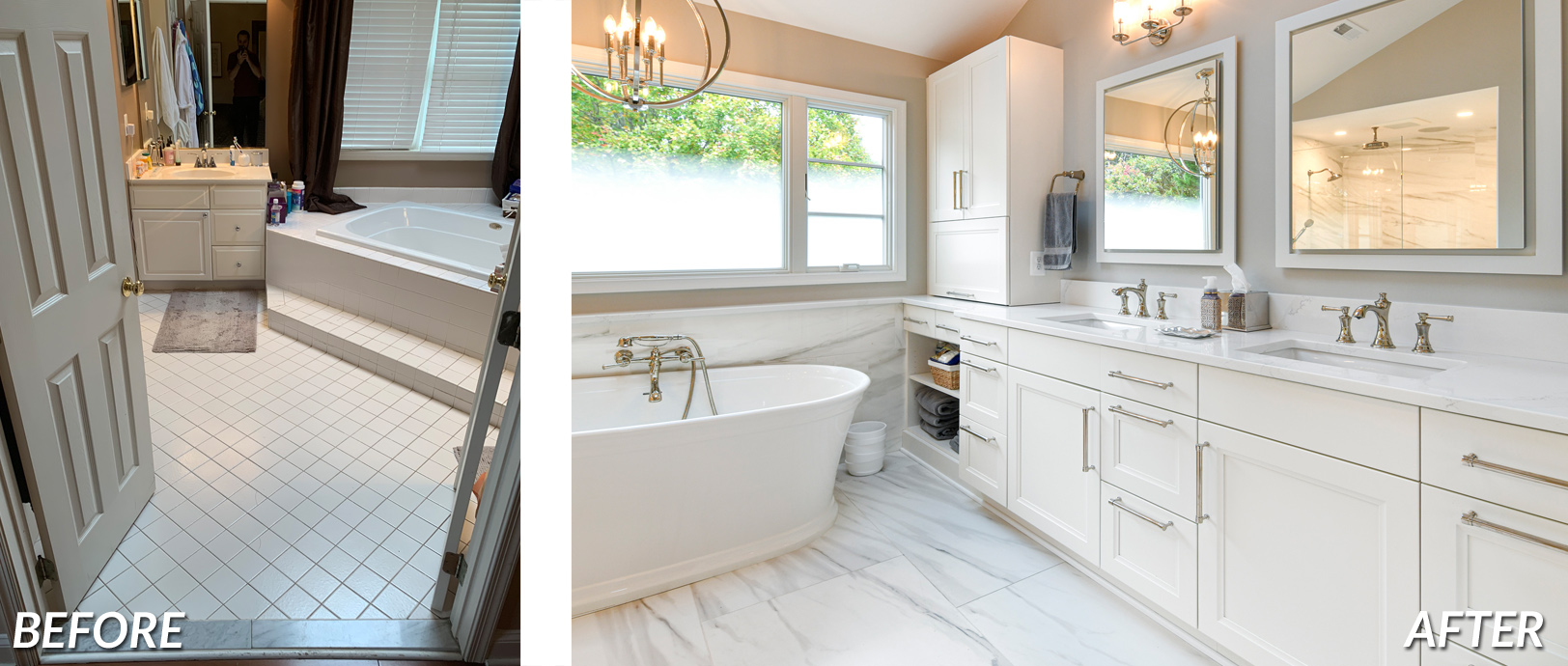 BOWA Design Build - Great Falls Master Bath Renovation Before & After